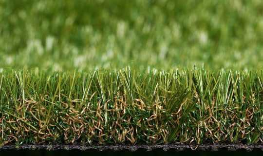 close up artificial grass yarns