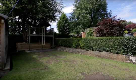 patchy lawn in need of artificial grass