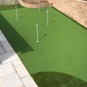 putting green in a garden
