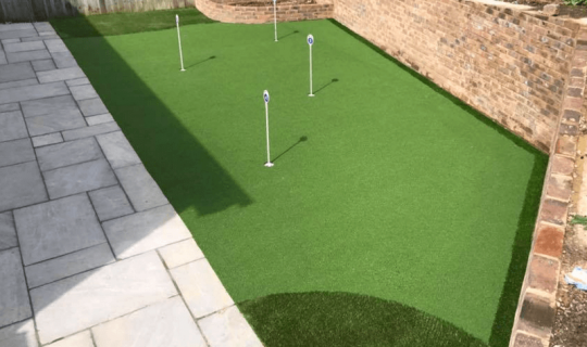 putting green in a garden